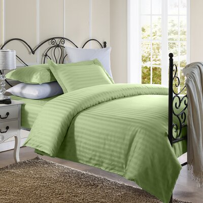 Cotton Duvet Set Color: Sage, Size: Twin