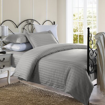 Cotton Duvet Set Size: Full / Queen, Color: Silver
