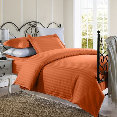 Cotton Duvet Set Size: Full / Queen, Color: Rust
