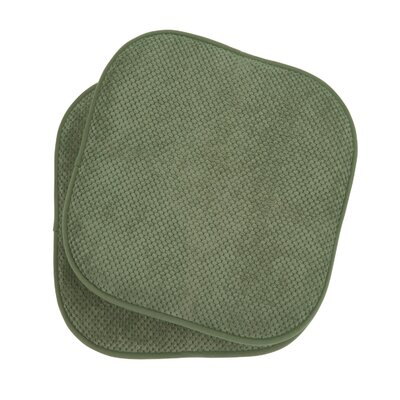 Memory Foam Dining Chair Cushion Color: Sage Green