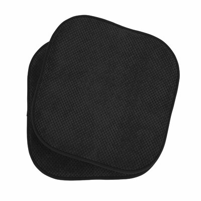 Memory Foam Dining Chair Cushion Color: Black