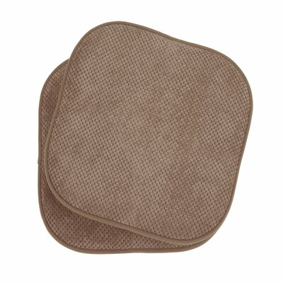 Memory Foam Dining Chair Cushion Color: Taupe