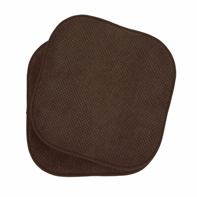 Memory Foam Dining Chair Cushion Color: Brown