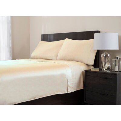4 Piece 320 Thread Count Sheet Set Color: Blue, Size: King