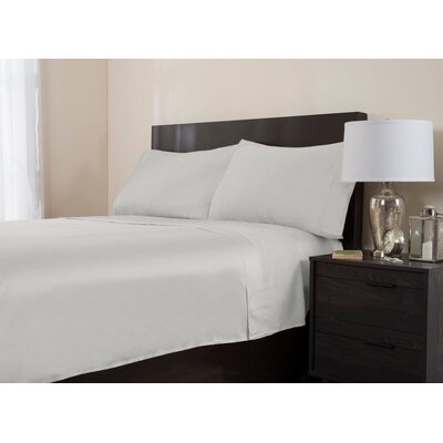 4 Piece 320 Thread Count Sheet Set Color: White, Size: King