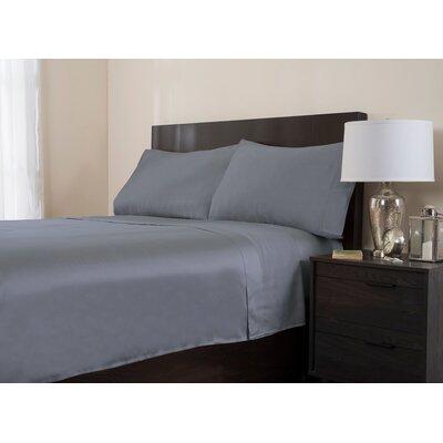 4 Piece 320 Thread Count Sheet Set Color: Gray, Size: Queen