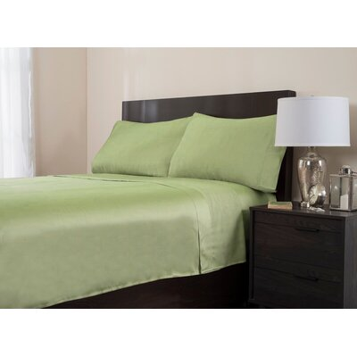 4 Piece 320 Thread Count Sheet Set Color: Sage, Size: Queen