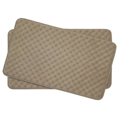 Heuser Thick Memory Foam Massage Bath Rug Color: Linen