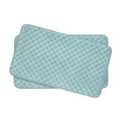 Heuser Thick Memory Foam Massage Bath Rug Color: Aqua