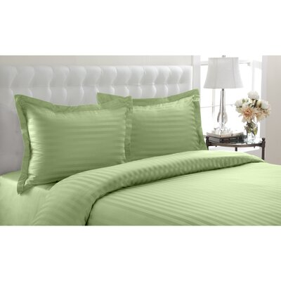 Altamont Cotton Duvet Set Color: Sage, SIze: Twin
