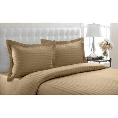 Altamont Cotton Duvet Set Color: Taupe, SIze: King