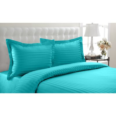 Altamont Cotton Duvet Set Color: Aqua, SIze: King