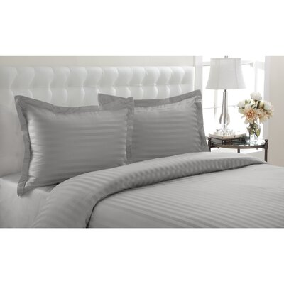 Altamont Cotton Duvet Set Color: Silver, SIze: Queen