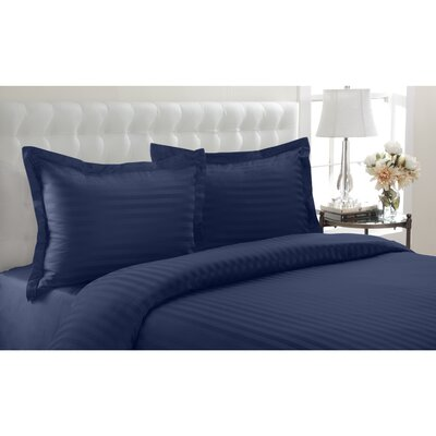 Altamont Cotton Duvet Set Color: Navy, SIze: King