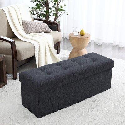 Calleja Foldable Tufted Storage Ottoman Upholstery: Black
