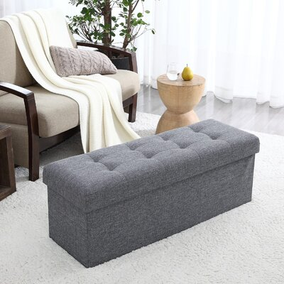 Calleja Foldable Tufted Storage Ottoman Upholstery: Gray