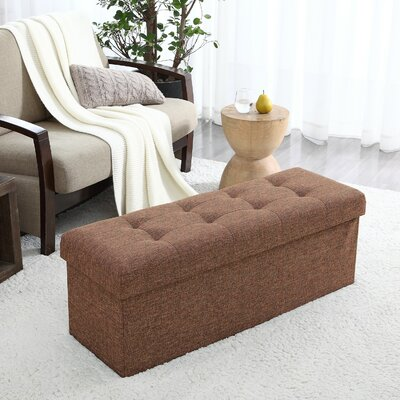 Calleja Foldable Tufted Storage Ottoman Upholstery: Taupe