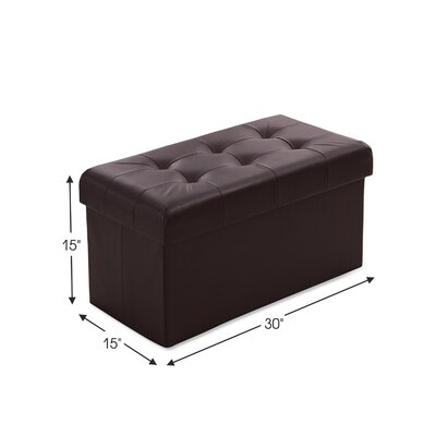 Macapanas Foldable Tufted Storage Ottoman Upholstery: Brown