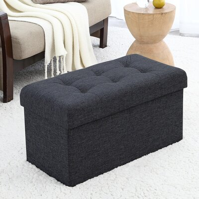 Foronda Foldable Tufted Storage Ottoman Upholstery: Black