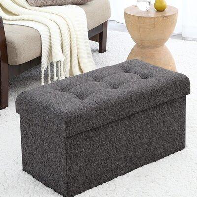 Foronda Storage Ottoman Upholstery: Charcoal