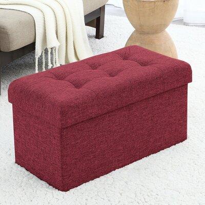 Foronda Foldable Tufted Storage Ottoman Upholstery: Burgundy