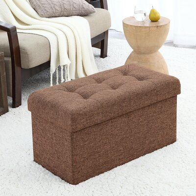 Foronda Foldable Tufted Storage Ottoman Upholstery: Brown