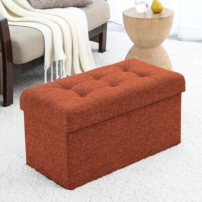 Foronda Foldable Tufted Storage Ottoman Upholstery: Rust