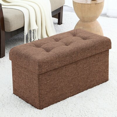 Foronda Foldable Tufted Storage Ottoman Upholstery: Taupe
