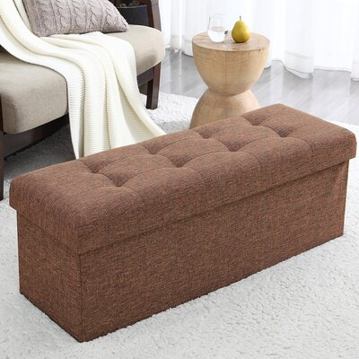 Calleja Foldable Tufted Storage Ottoman Upholstery: Brown