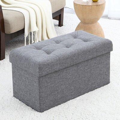Foronda Storage Ottoman Upholstery: Gray