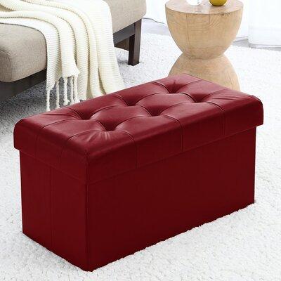 Macapanas Storage Ottoman Upholstery: Burgundy