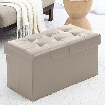 Macapanas Storage Ottoman Upholstery: Taupe