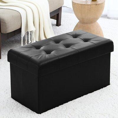 Macapanas Storage Ottoman Upholstery: Black