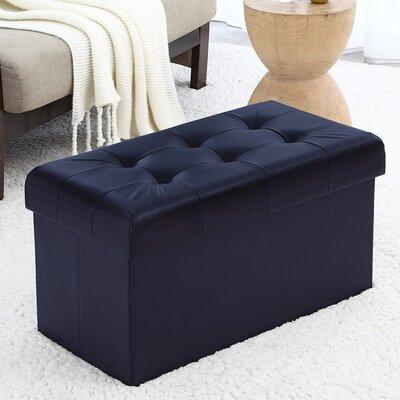 Macapanas Storage Ottoman Upholstery: Navy