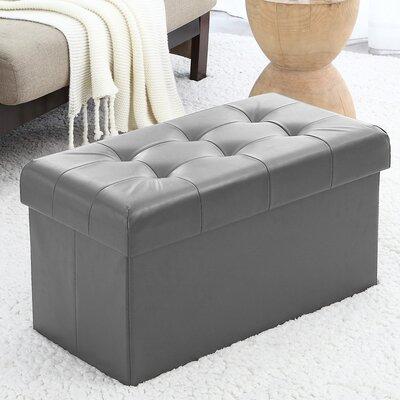 Macapanas Storage Ottoman Upholstery: Gray