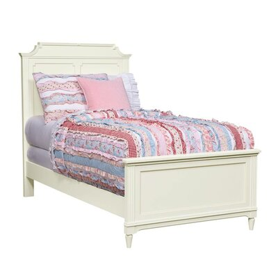 Clementine Court Panel Bed Size: Twin, Finish: Frosting