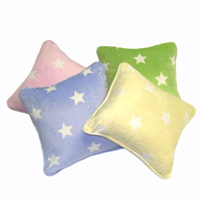 Polarain Gom Star Throw Pillow Color: Yellow