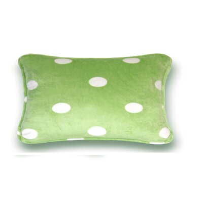Gom Velboa Dot Throw Pillow Size: 13 H x 19 W x 4 D, Color: Green