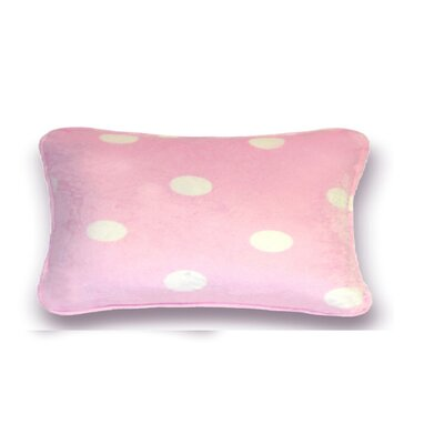 Gom Velboa Dot Throw Pillow Size: 13 H x 19 W x 4 D, Color: Pink