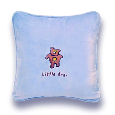 Greeson Little Bear Throw Pillow Color: Blue