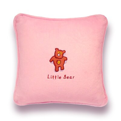 Greeson Little Bear Throw Pillow Color: PInk
