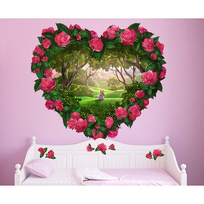 Heart Fantasy Flowers Wall Decal 143_HRTFRM_005