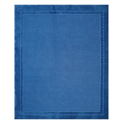 Oxford Hand-Woven Blue Area Rug Rug Size: 5 x 7