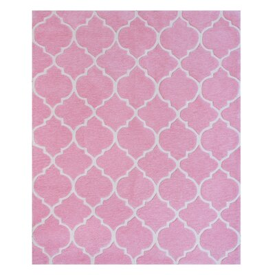 Nottingham Hand-Woven Pink Area Rug Rug Size: 5 x 7