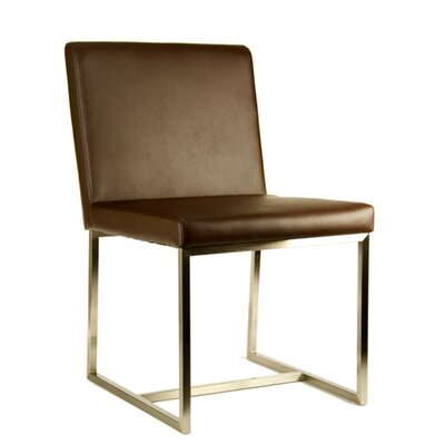 Stockholm Side Chair Color: Brown