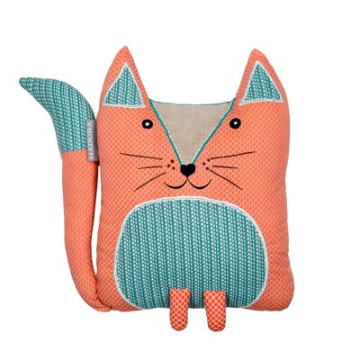 Coral Fox Pillow