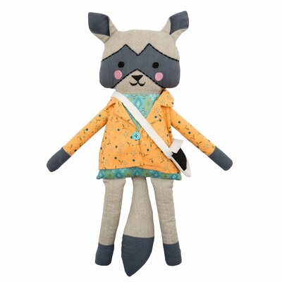 Miss Raccoon Pillow