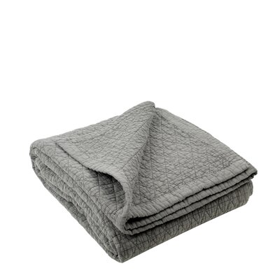 Kaleidoscope Quilted Bedspread Color: Anthracite