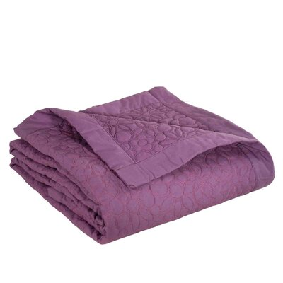 Flower Quilt Color: Dark Purple