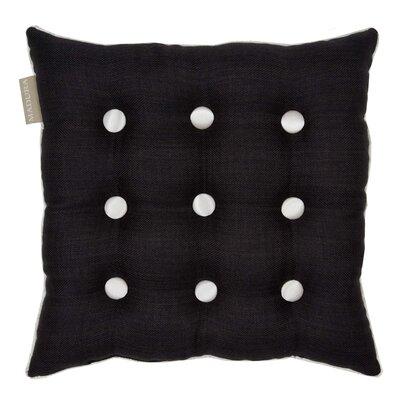 Lina Throw Pillow Color: Dark Gray/Off White